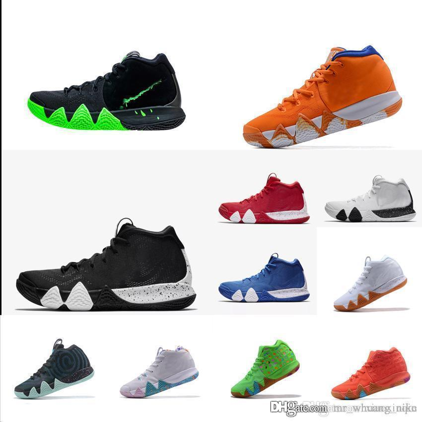 sneakers for cheap 8a917 1644c 2019 Cheap Mens Kyrie IV Basketball Shoes For Sale Lucky Charms Green  Halloween Kyries Irving 4 Sneakers Tennis With Box From Mr whuang nike, ...