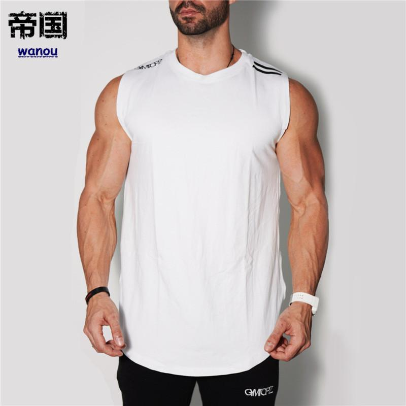 a53ad7fbb45dd NEW Men Sleeveless Shirt Fitness Bodybuilding Sports Tank Top GYMS Running Tank  Tops Mens Cottons Running Men Vest Funny T Shirts Cheap As T Shirts From ...