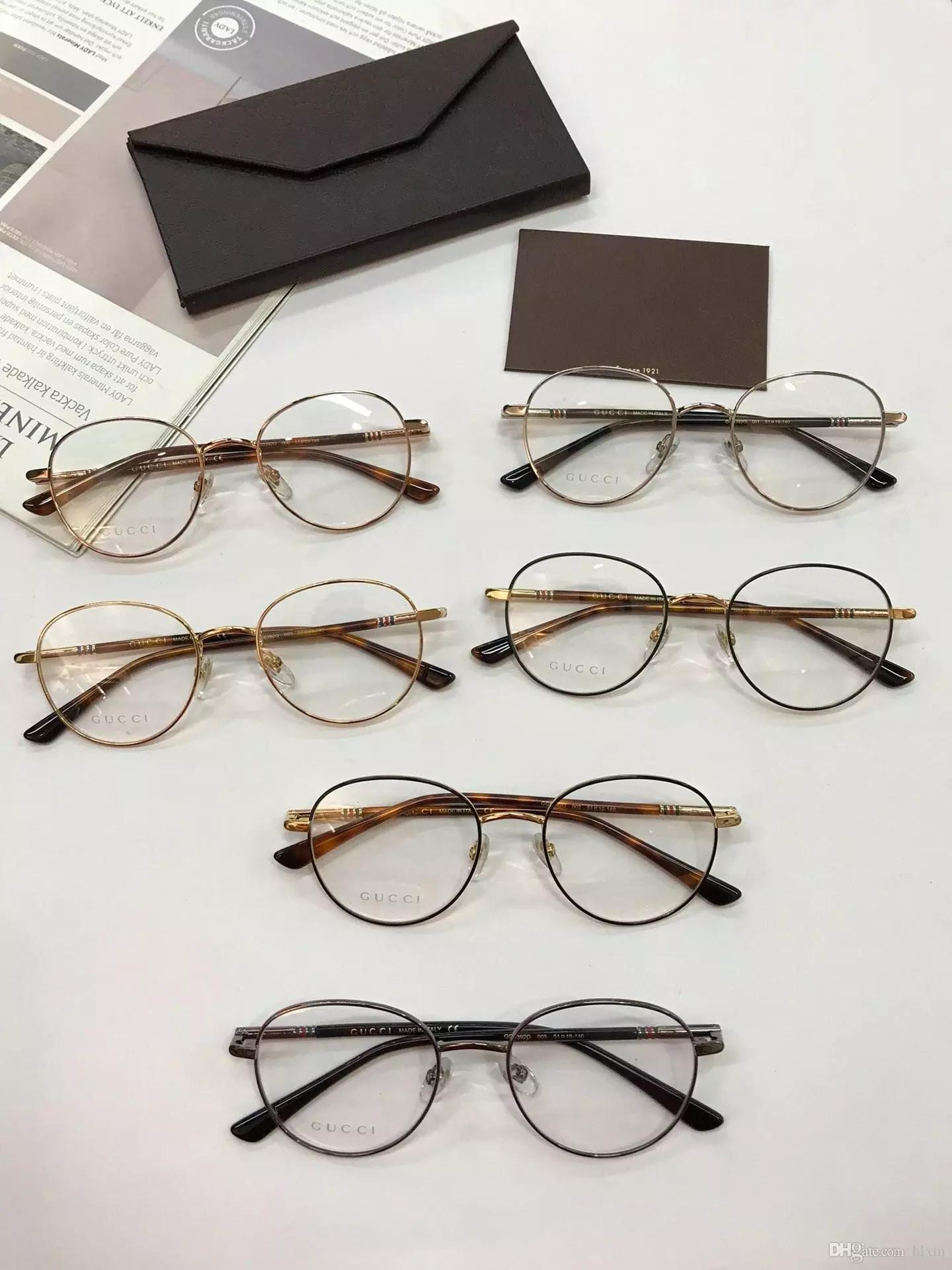 b197527342 Compre Diseño De Marca 2018 Montura De Gafas Ópticas Modelo De Calidad High  End Clásico GG0392 Tamaño 51 19 140 Monturas De Gafas Para Hombre Y Mujer A  ...