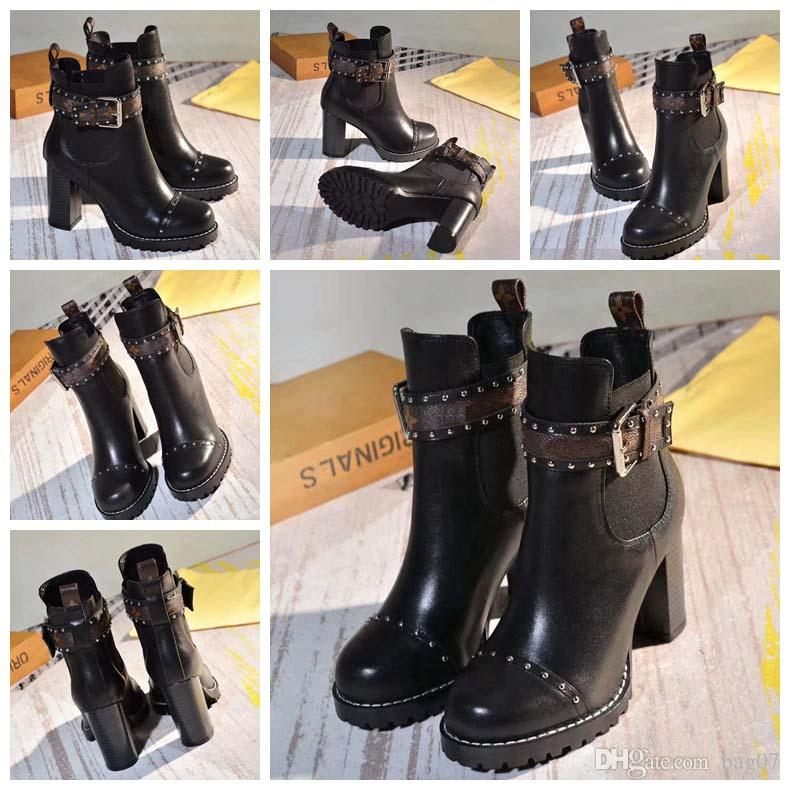 Fashion Designer Women Boots Best Quality Star Trail Lace-up Ankle Boots With heavy-duty soles leisure lady boots By bag07 LX2311