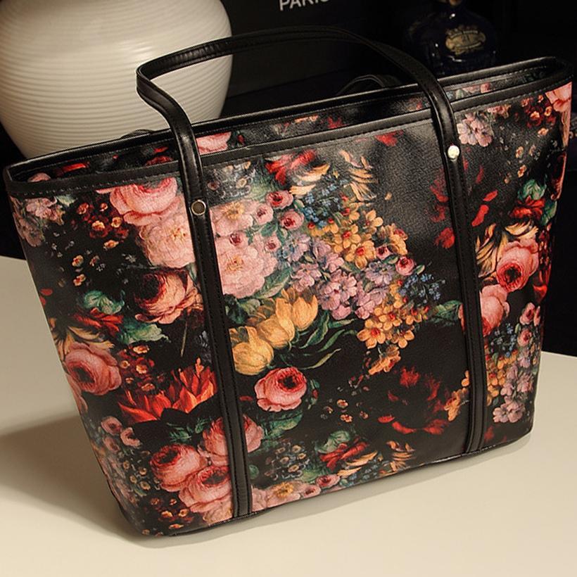 Women Bag Vintage Flower Women Handbag Shopping Bags Purple Rose Printing  Tote Shoulder Bag Womens Bags Handbags Ladies Bags Backpack Purse From  Thefunk