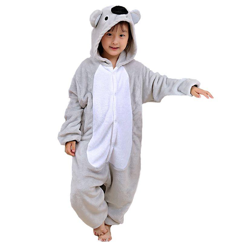62e8feec9 2019 Attractive Koala Kigurumi Children Onesie Cartoon Kids Flannel ...