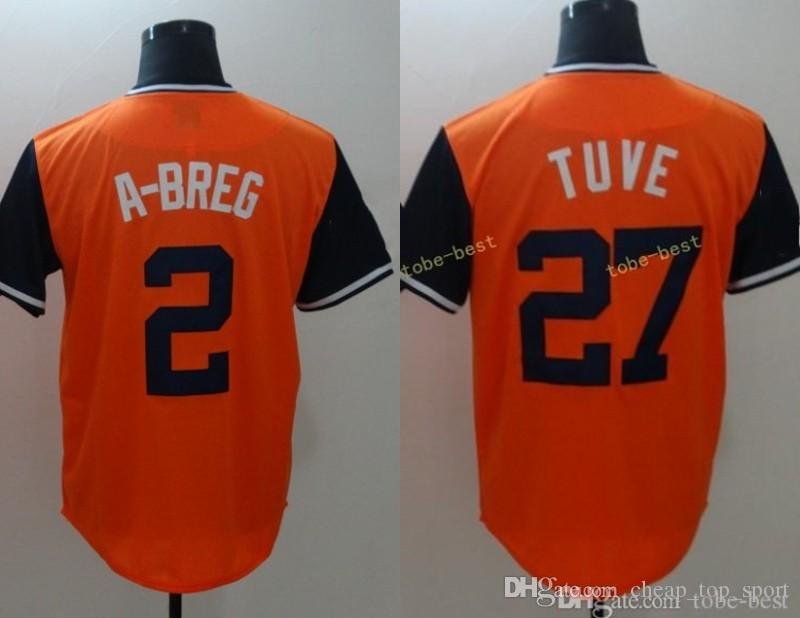 the best attitude 62310 a2b83 2018 Players Weekend Houston #27 Jose Altuve Tuve 2 Alex Bregman A-Breg  Blank No Name Orange Nickname Baseball Jerseys