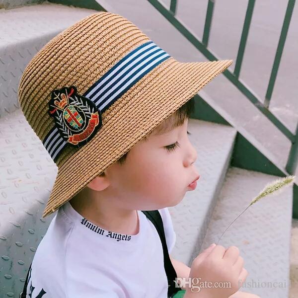 2019 Summer New Boys And Girls Outdoor Sun Visor Baby Sun Hat Hat Children  Sunscreen Summer Beach Hat From Fashioncai1 fe188c08c33