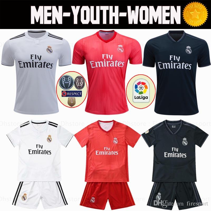 official photos e0eae 00c6e 2018 Real Madrid Soccer Jersey 18 19 Home Away MODRIC MARCELO 3rd Mariano  VINICIUS JR Nacho KROOS ISCO ASENSIO BALE third red Football Shirt