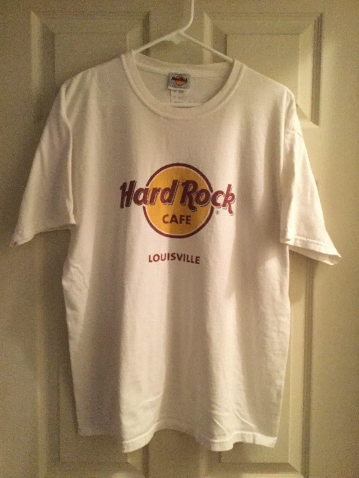 422ed465 HARD ROCK CAFE Louisville Classic Logo White T Shirt Size Large EUC Y1Funny  Unisex Casual Top The Who T Shirt T Shirts Designs From Dragontee, ...
