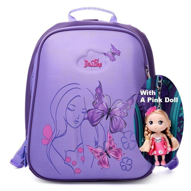 c46b86044783 Cartoon School Bag Butterfly Girls School Backpacks Soft Light Orthopedic  Purple Backpack For Children School Bags For Kids Girls School Bags From ...
