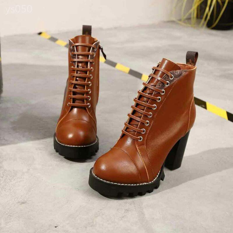 Martin Boots Women's Thick Heel Autumn And Winter New Round Head Zip Personality Single Boots European Station High-heeled Short Boots