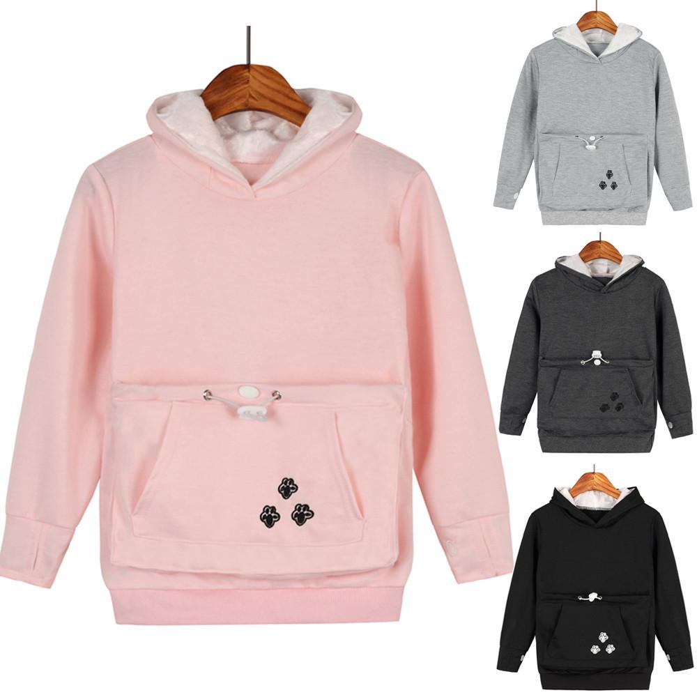 b74349687f3 2019 Good Quality Boys Girls Hoodies Sweatshirts Baby Pet Dog Cat Holder  Pouch Fleece Warm Large Pocket Shirt Hoodie Sudaderas Blouse From  Nextbest02