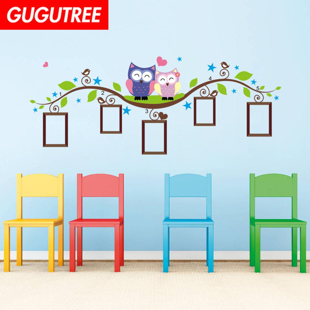 Decorate Home photo trees bird cartoon art wall sticker decoration Decals mural painting Removable Decor Wallpaper G-1738