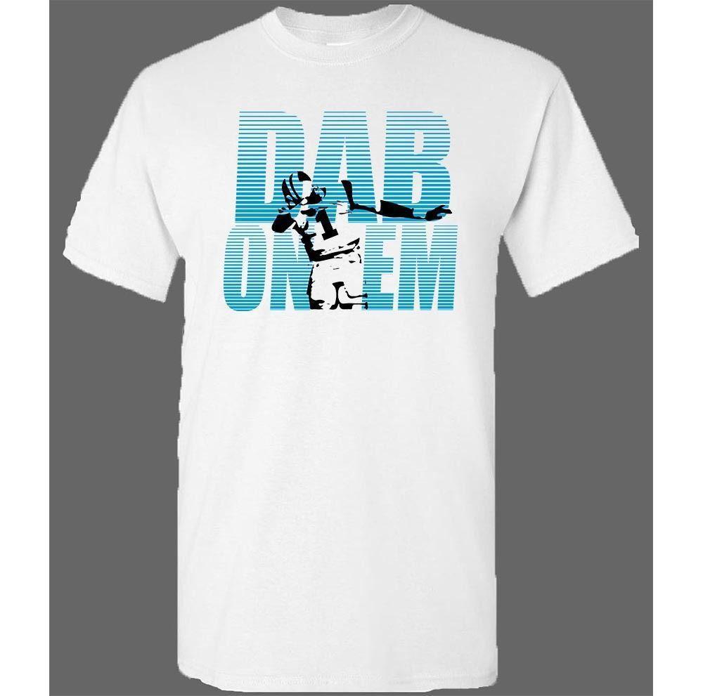 f0a720ea DAB ON EM Cam Newton Dabbing Keep Pounding All Day Panthers Unisex Tees  Mens 2018 fashion Brand T Shirt O-Neck 100%cotton T-Shirt