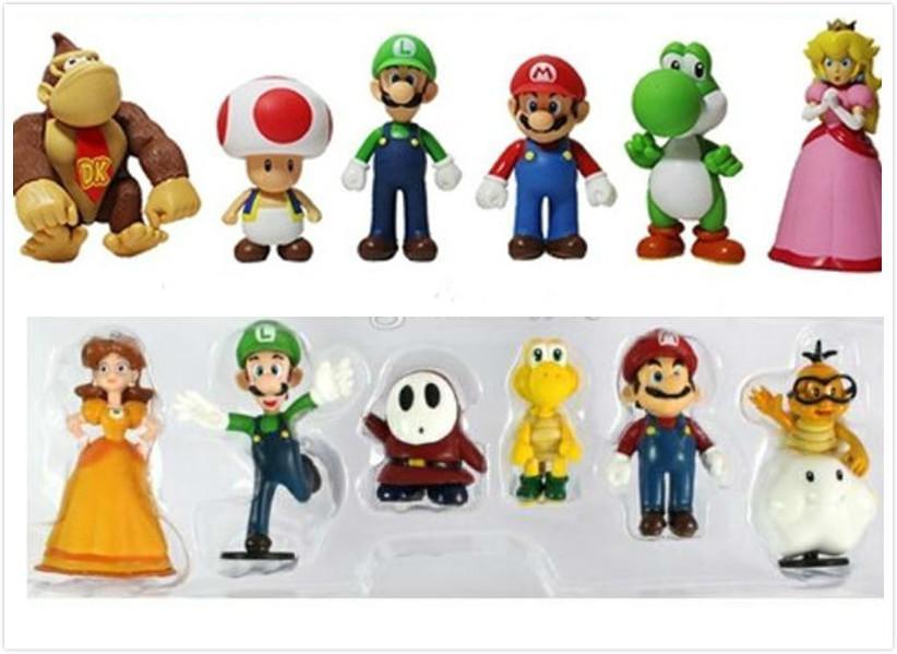 2019 NEW Super Mario Bros PVC Action Figure Model Dolls Toys DONKEY ...
