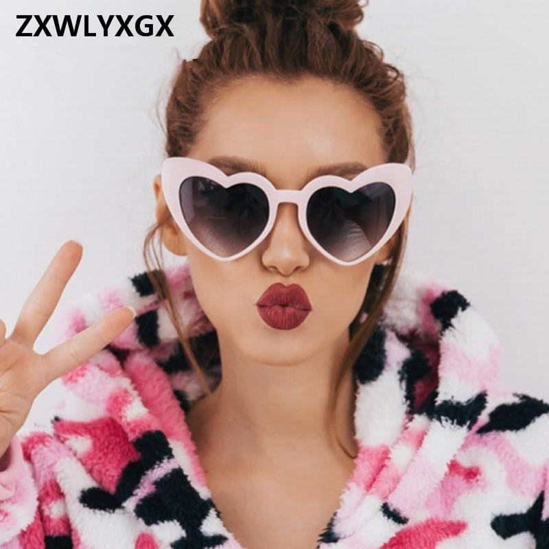 1a646fd6aaa0 ZXWLYXGX 2018 New Fashion Love Heart Sunglasses Women Cute Sexy Retro Cat  Eye Vintage Cheap Sun Glasses Red Female C18122501 Online with  51.14 Piece  on ...