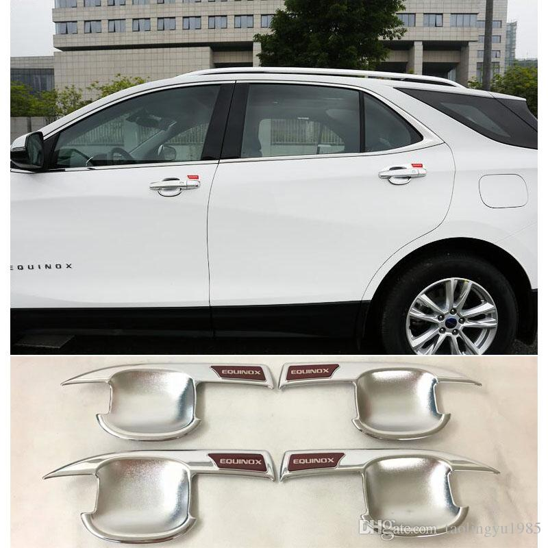 ABS Chrome Red Door Handle Bowls Cover Trim For Chevrolet Holden Equinox  2018