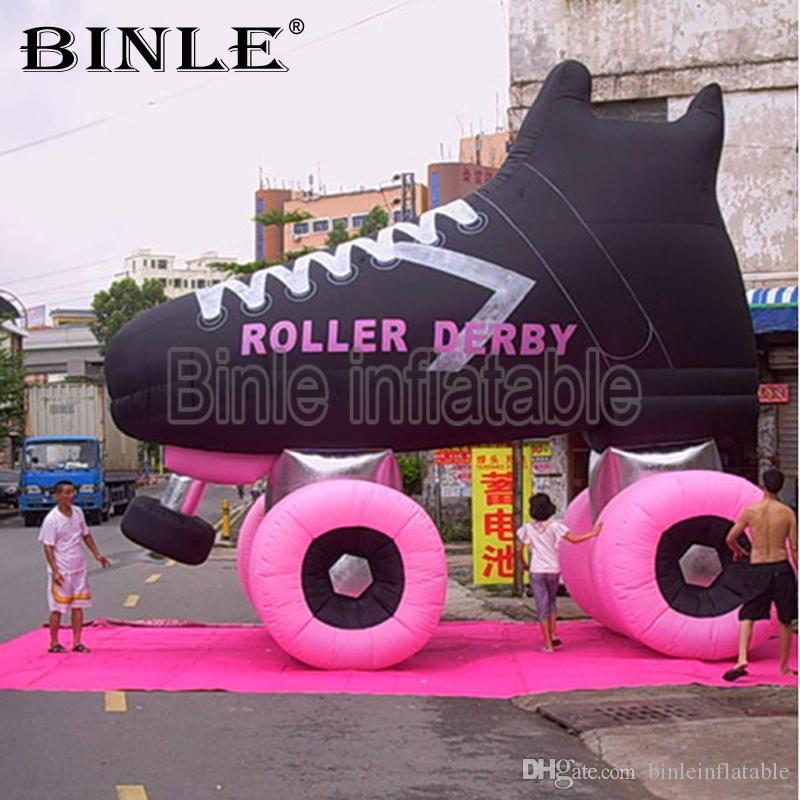 2019 new style giant inflatable roller skate shoes with company logo for advertising