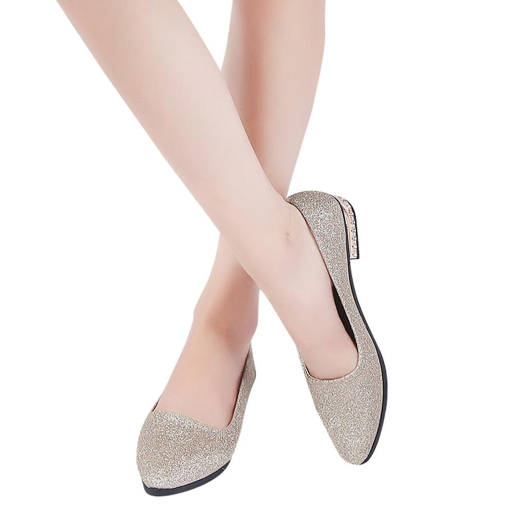 2019 Robe YOUYEDIAN chaussures pour femmes point escarpins chaussures pour femmes 2018 chaussures pour femmes cristal confortable