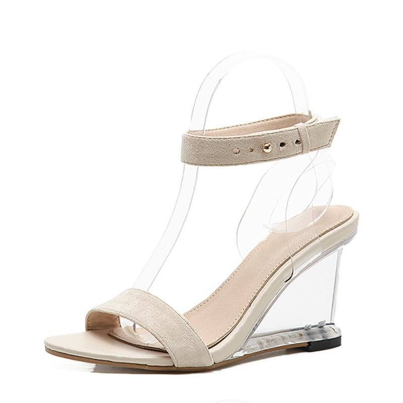 8c66cf58ab 2019 New Sandals Open Toe High Heels Women Transparent Perspex Slippers Shoes  Wedge Heel Clear Sandals Size 35 40 UK 2019 From Emmaj01, GBP £18.51 |  DHgate ...