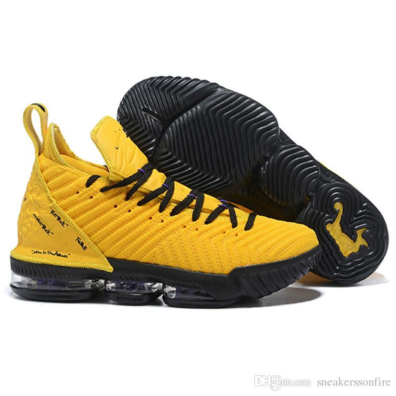 f2274bdca6 Compre Venta Caliente Calidad DHL Envío Rápido LeBron 16 Amarillo Negro PE  Zapatos De Baloncesto Tamaño 40 46 US9 10 10.5 A $165.83 Del  Sneakerssonfire ...