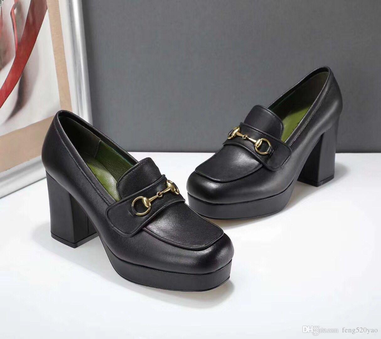 concepteur cowhide hauts talons sexy Bar Banquet de mariage à talons hauts chaussures bateau super chaussures à talons hauts luxe métal femme en cuir chaussures robe 41