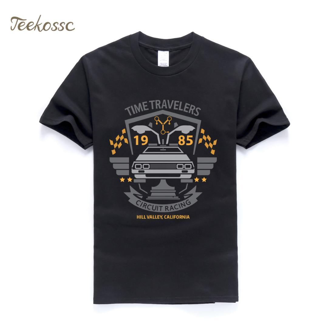Back to the Future T Shirt Men Classic Movie Series T Shirts Mens 2018 Summer Tops Tee T Shirts Cotton Short Sleeve