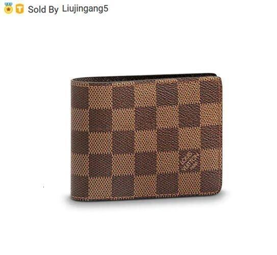 Liujingang5 SLENDER WALLET N61208 Men Belt Bags EXOTIC LEATHER BAGS ICONIC BAGS CLUTCHES Portfolio WALLETS PURSE