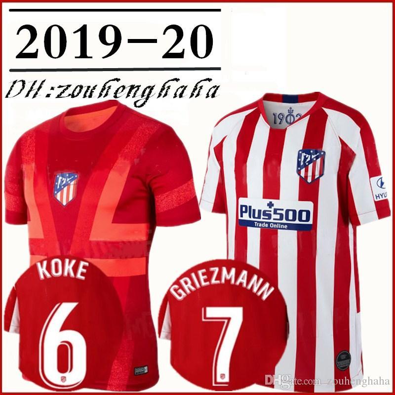 8b9b00b1f66 2019 2019 2020 Atletico Madrid GRIEZMANN Soccer Jerseys Home 19 20 Squad  Training KOKE SAVIC SAUL DIEGO COSTA THOMAS LEMAR VITOLO Football Shirt  From ...