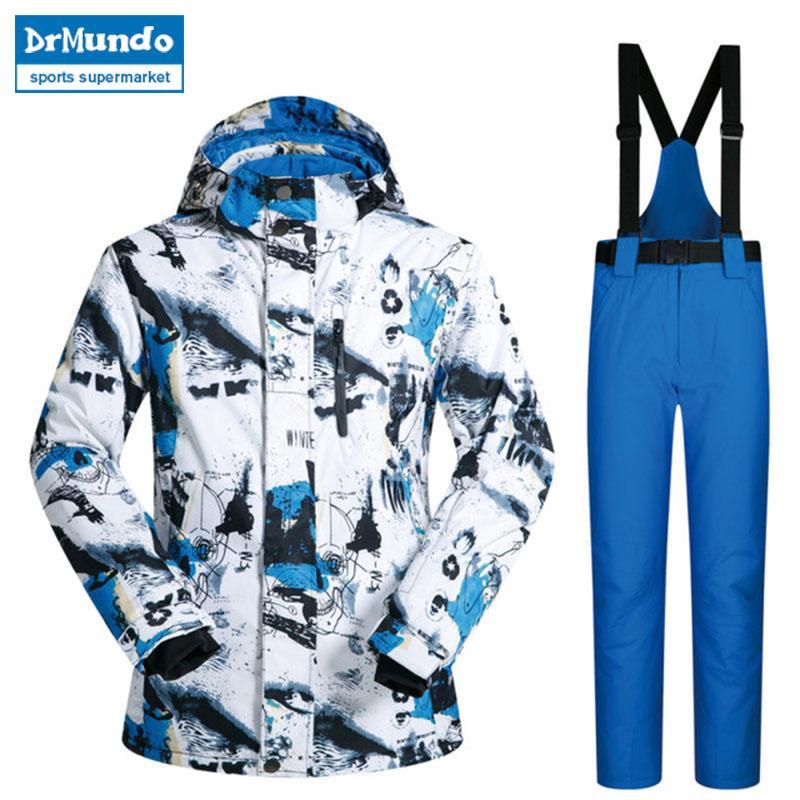 ae5078959d New Outdoor Ski Suit Men Windproof Waterproof Thermal Snowboard Set ...