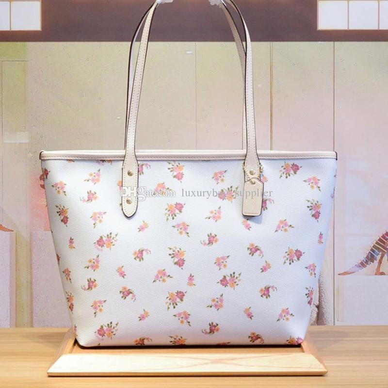 Designer Luxury Handbags Purses Women Bags Classic High Quality Colorful Flamingo Sharks Double Sided Pattern Zipper 2pcs Set Casual Tote
