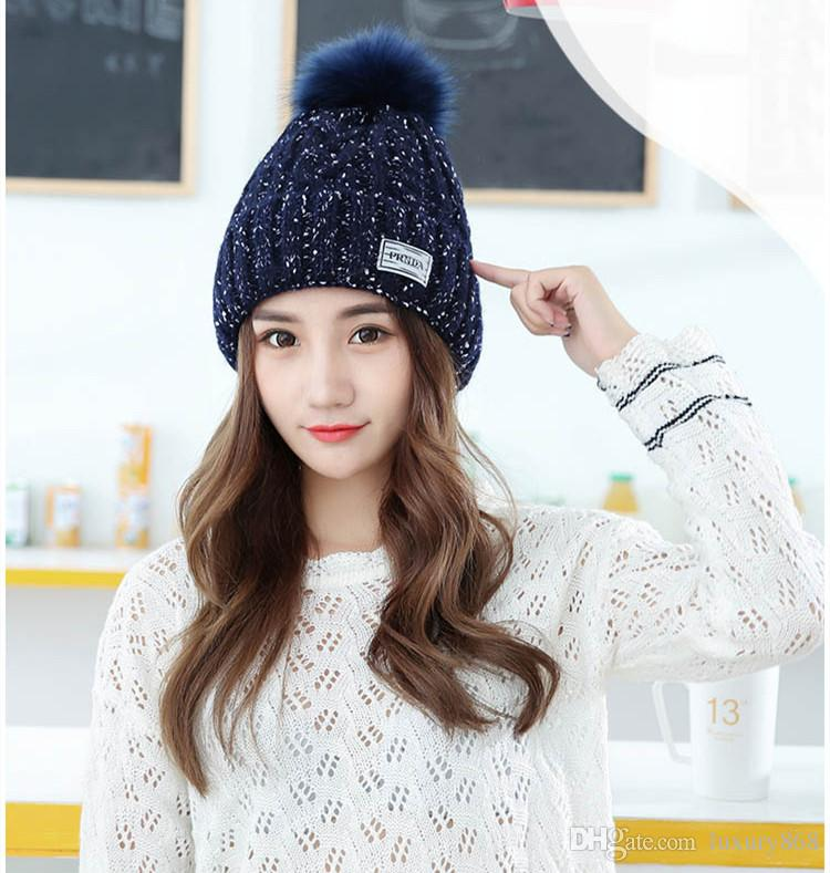 Fashion Classic Tight-fitting Knitted Sweaters Plus Ball Hat the ... 2a49ab6545e