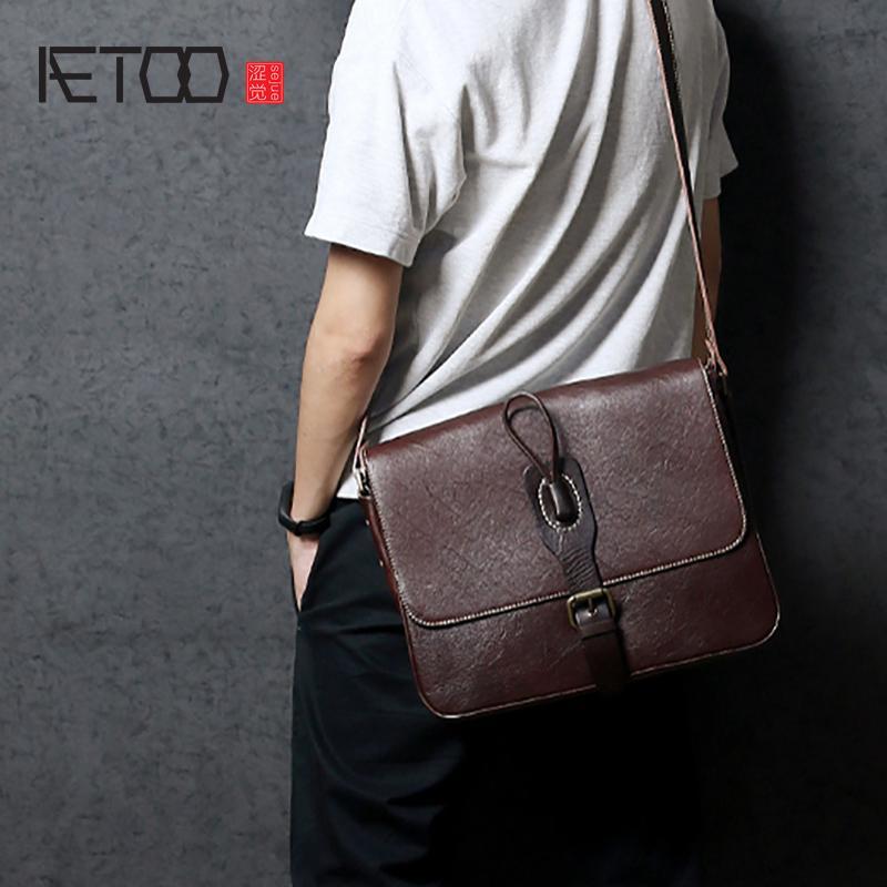 571a3997ff93 AETOO Single Shoulder Bag Handmade Retro Male Head Layer Cowhide Crossbody  Bag Leather Postman Pack Business Casual Men S Satchel Handbags White  Handbags ...