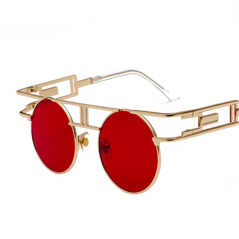373eaab7e8 Compre Gafas De Sol Vintage Estilo Steampunk Para Hombres Y Mujeres Gafas  Redondas De Diseñador Gótico Unisex Gafas De Sol Punk De Calle A $5.64 Del  ...