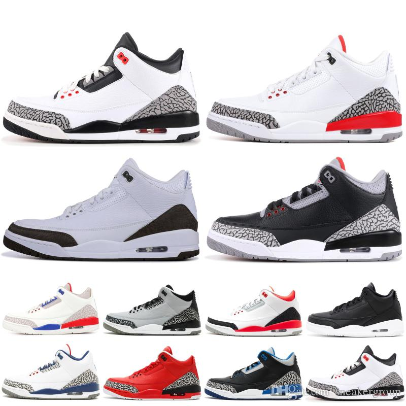 a4273cb56be0 Top Quality 3 3s Men Basketball Shoes Black Cement Infrared 23 Seoul Pure  White Designer Shoes Sport Sneakers Trainers Size 7-13 Men Shoes Designer  Shoes ...