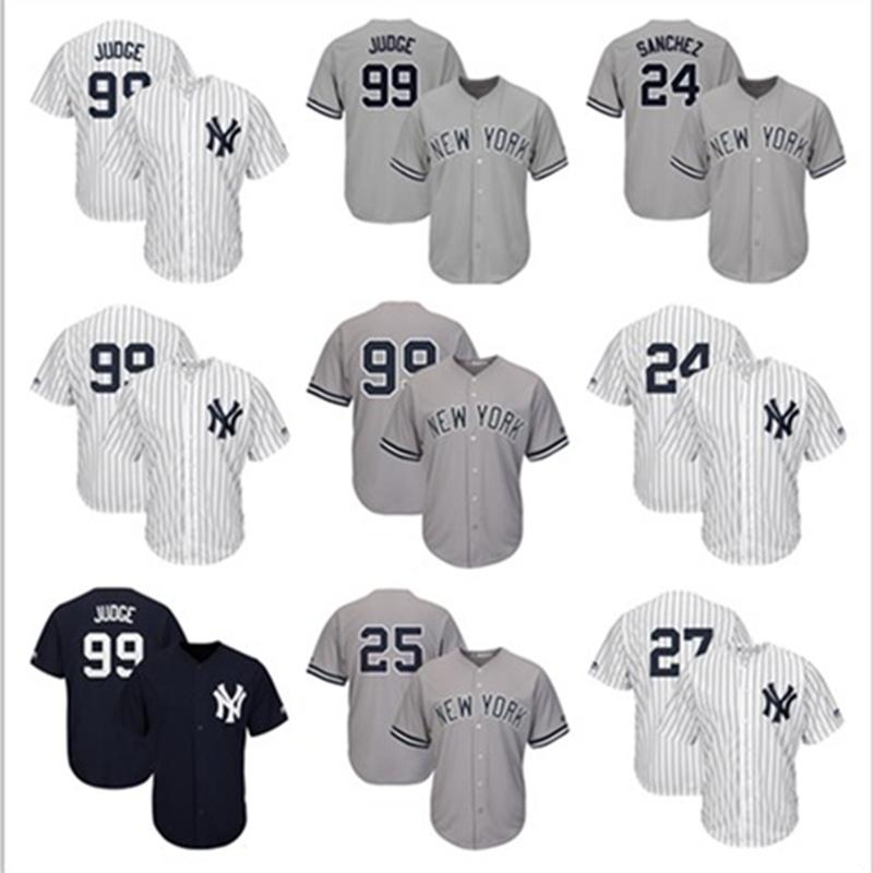 best loved bc8bd 9e690 New York Custom NY Yankees jerseys DJ LeMahieu Gary Sanchez Masahiro Tanaka  Aaron Judge Giancarlo Stanton Derek Jeter Baseball Jersey