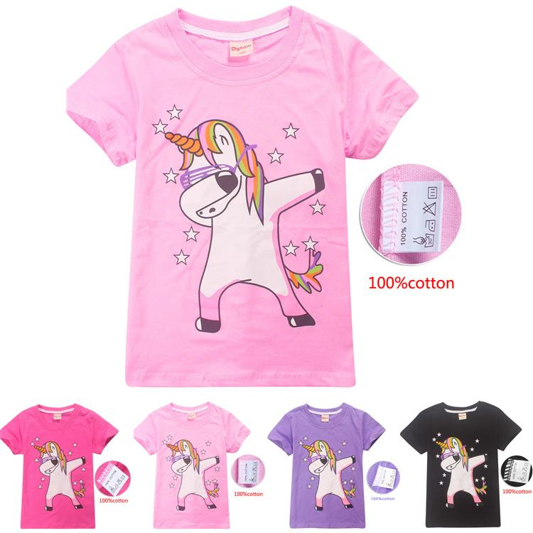 d0a6e1e3 2019 Unicorn Printed Summer 4 12y Girls T Shirt Tees 100% Cotton Kids  Cartoon T Shirts Kids Designer Clothes Girls DHL FJ09 From Fashion_001,  $6.1 | DHgate.