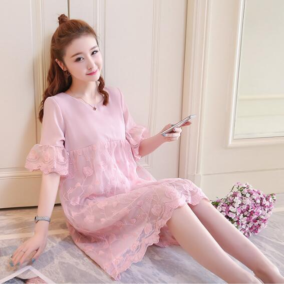 f2dcb79830 Maternity Clothes brand New Arrival fashion Maternity Dresses for Pregnant  dress Medium length mesh chiffon skirt
