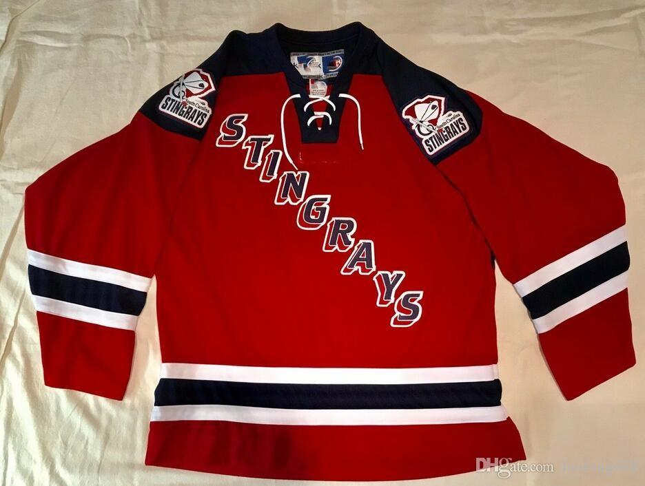2019 SOUTH CAROLINA STINGRAYS Hockey Jersey Embroidery Stitched Customize  Any Number And Name Jerseys From Luolong008 8ae3ea614af