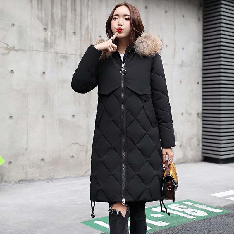 06674d6fffed7 2019 New Warm Fur Collar Loose Coats Winter Women Hooded Jackets Casual  Long Winter Camouflage Female Cotton Jacket Lj0861 From Godblessus163888,  ...