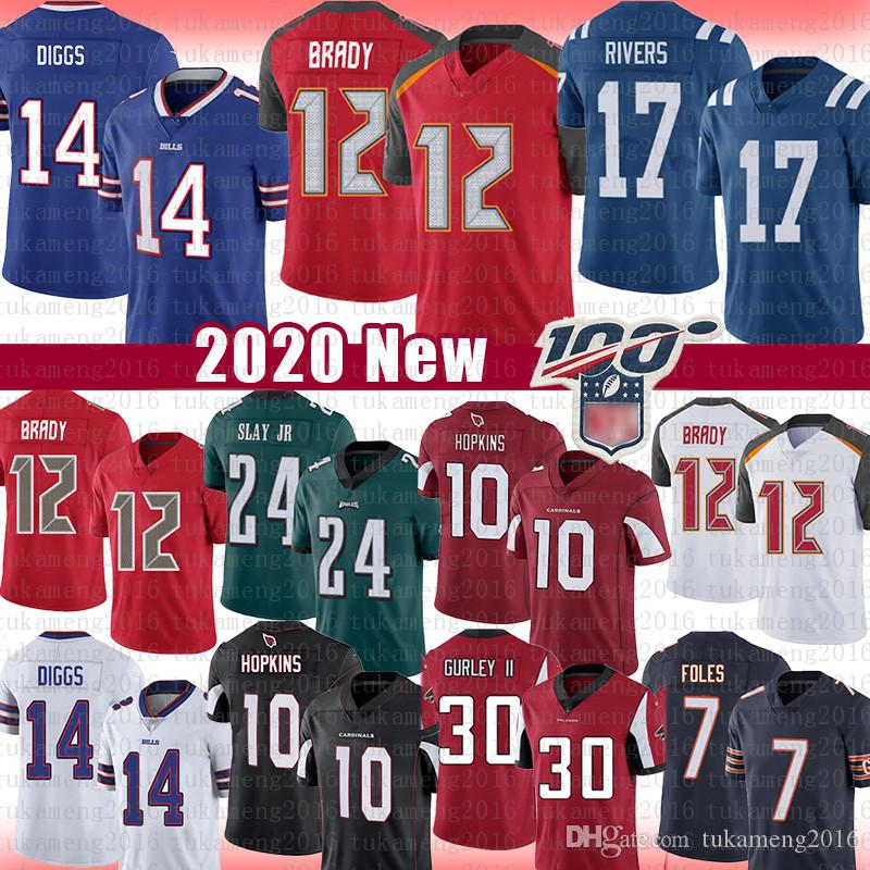 Tampa Bay 12 Tom Brady Buccaneer Stefon Diggs Jersey Dario Slay JR Philip Rivers DeAndre Hopkins Arizona Buffalo cardinale Colt Eagle Bill