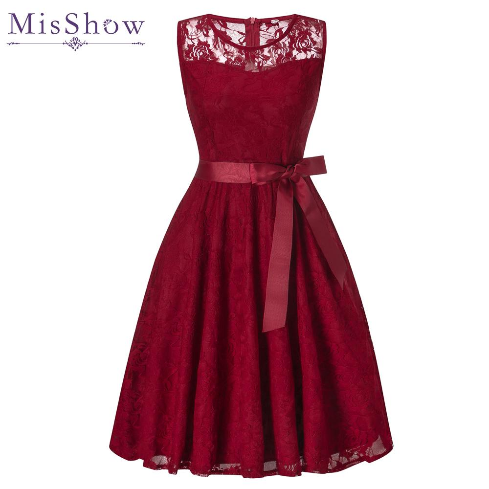 Evening Dresses Short Evening Dress 2019 Sleeve Zipper Back Dresses Lace Formal Party Dress Vestido De Festa Burgundy Homecoming Prom Dresses