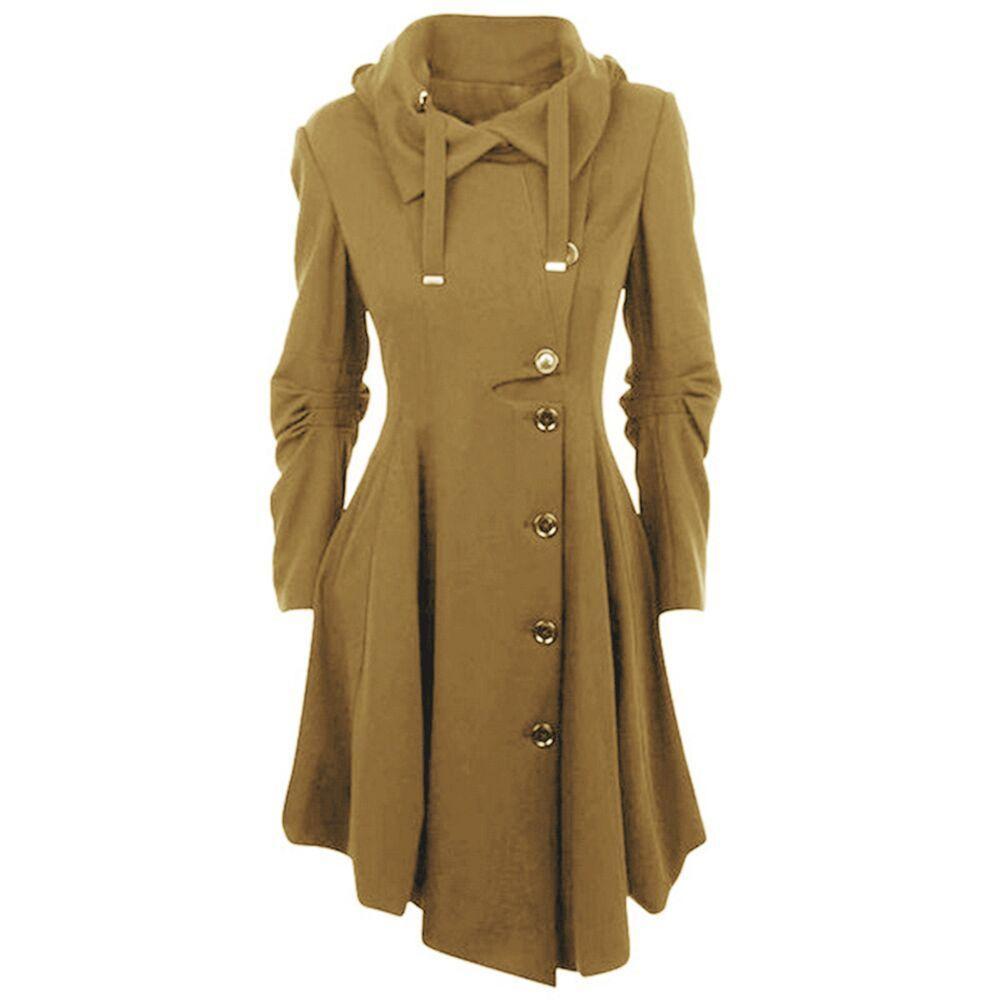 Uguest 2018 Women Coats Winter Warm Formal Irregular With Button High Quality