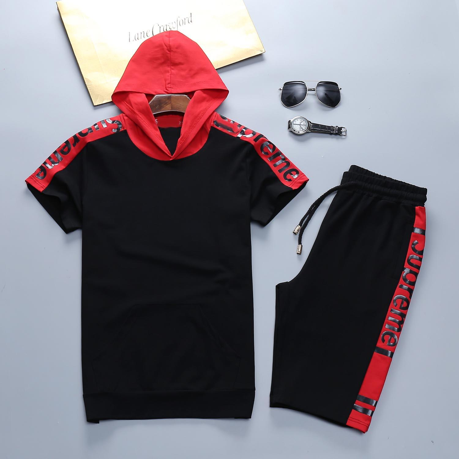 Designer Luxury Mens Tute Summer T-shirt + Pant Sportswear Fashion Sets manica corta da jogging di alta qualità Plus Size