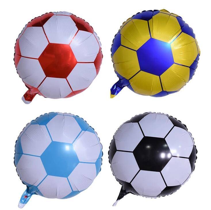 18 zoll Folie Fußball Cartoon Ballon Float Luftkugeln Ballons Kinder Geburtstagsparty Dekoration Ballon Kinder AufblasbareToys