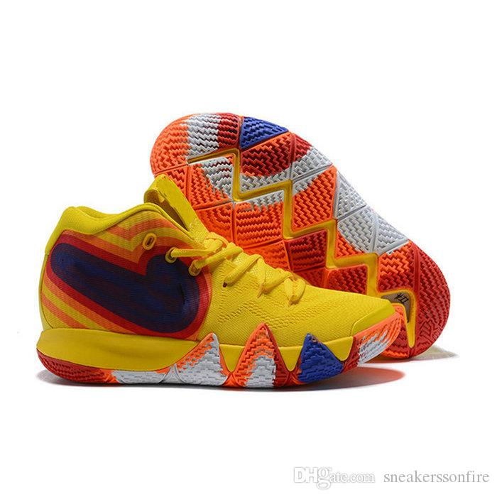 55b347ea8f9 ... 2019 Kyrie Irving 4 EP 70s Yellow Multicolor Uncle Drew New