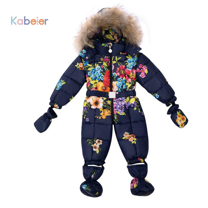 846a52947 Baby Boy Girl Clothing Snowsuit Rompers Winter Brand Infant Snow ...