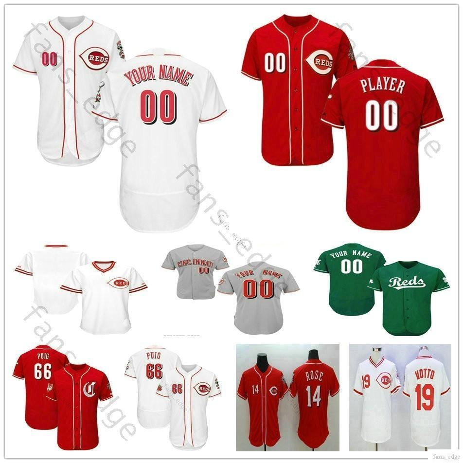 720a666eac3 2019 Custom Cincinnati Ken Griffey Jr. Matt Kemp 3 Scooter Gennett 43 Scott  Schebler Man Woman Kids Youth Reds Baseball Jerseys From Fans edge