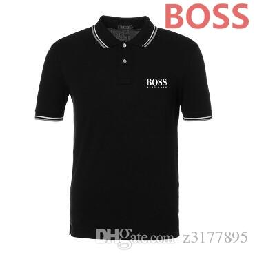 0f6a668e4ef High Quality Tops Tees Men s Boss Polo Shirts Business Men Brands ...