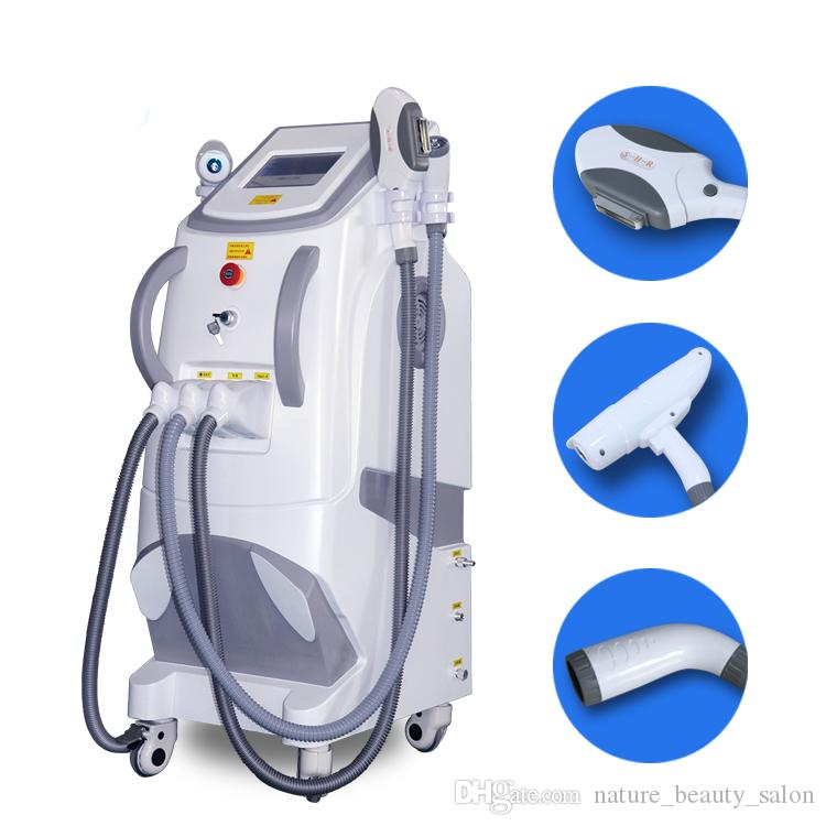 2019 Pro multifunction Radio frequency face lift tattoo hair removal elight opt shr rf nd yag laser ipl machine