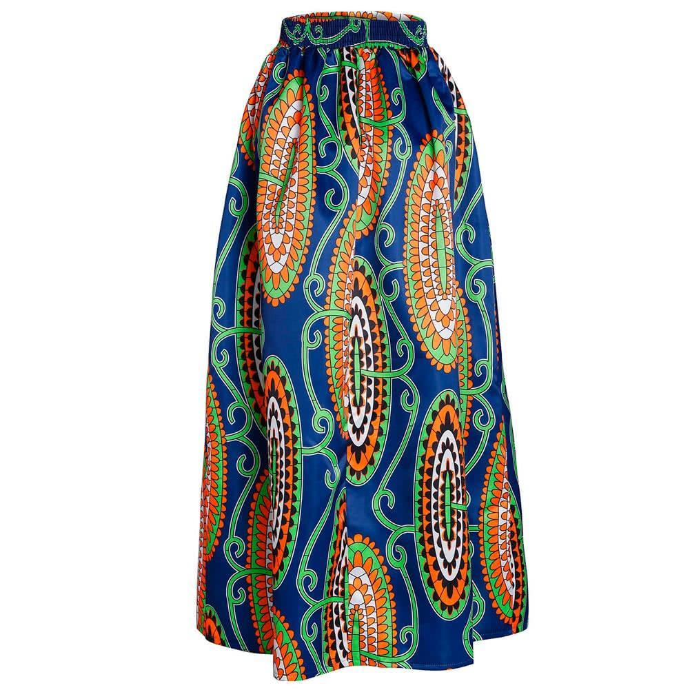 c9e7a3e95607f African Print High Waist Pleated Maxi Skirt For Women in 2019