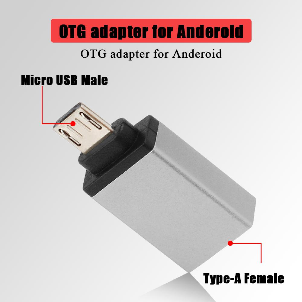 OTG Adapter Micro USB to USB 2.0 Converter OTG Cable for Android Samsung Galaxy Xiaomi Tablet Pc to Flash Mouse Keyboard (4)