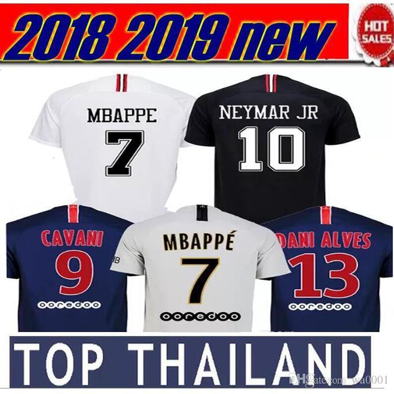 ecfd309c1 1718 HIRD BLACK New Kit Soccer Jerseys MBAPPE Verratti Cavani Di ...